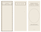 Who Was Steve Jobs Brochure