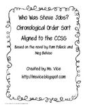 Who Was Steve Jobs? Chronological Order Sort