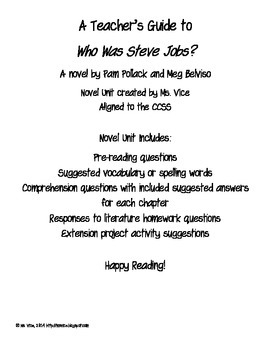 Who Was Steve Jobs? Teacher's Guide
