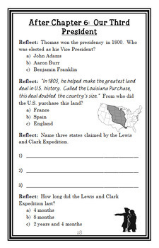 Who Was Thomas Jefferson? (Fradin) Book Study / Comprehension  (29 pages)