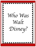 Who Was Walt Disney - Chapter Questions
