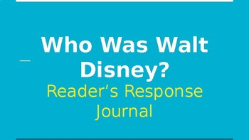 Who Was Walt Disney? Question Stems