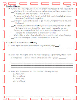 Who Was Walt Disney? - Reading Comprehension Packet