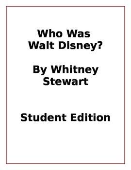 Who Was Walt Disney Student Edition - Microsoft Word Version