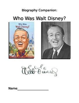 Who Was Walt Disney Study Guide?
