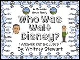 Who Was Walt Disney? (Whitney Stewart) Book Study / Comprehension  (29 pages)