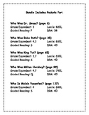 Who Was? Who Is? Reading Comprehension Packets Bundle of 5 Titles