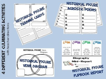 Foldable Biography Nonfiction Units Bundle