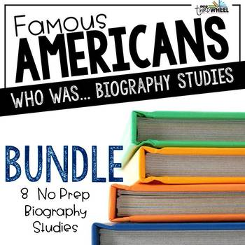 Famous Americans Trifold Biography Bundle - Literary Nonfiction through History