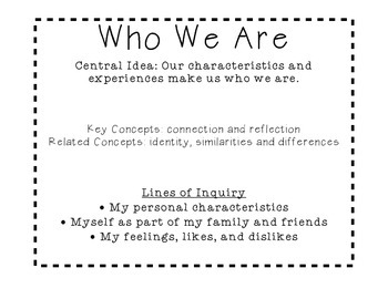 Who We Are Lines of Inquiry