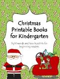 Christmas Printable Sight Word Books