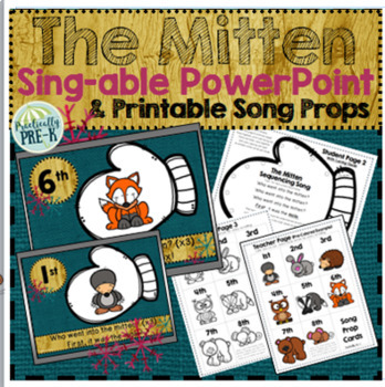 Who Went Into the Mitten? (Sequencing Song Slides With Printable Student Props)
