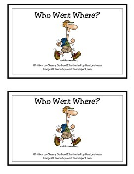 Who Went Where? Guided Reader for HFW