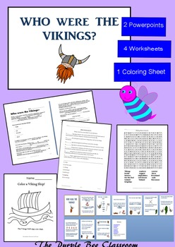 Who Were The Vikings? Powerpoints and worksheets