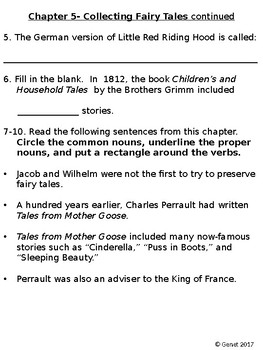 Who Were the Brothers Grimm? By Avery Reed -T50 Chapter Questions and Test