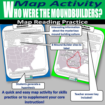Who Were the Moundbuilders? Map Labeling Activity