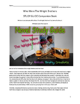 Who Were the Wright Brothers? A Novel Study Guide: Companion Book