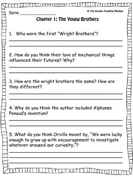 Who Were the Wright Brothers? Book Study