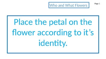 Who - What Flowers