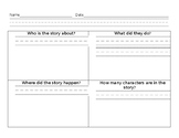 Who, What, When, How Many Characters Graphic Organizer