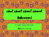 WH questions for Halloween