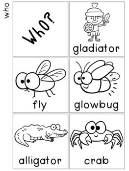 Story Starters {Who, What, When, Where, Verbs}