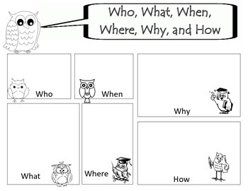 Who, What, When, Where, Why, How??
