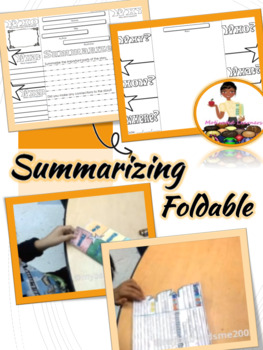 Summarizing Strategies Interactive Notebook Foldable (5W's)