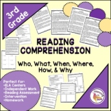 Who, What, When, Where, Why, How, 3rd Grade