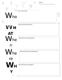 Who, What, When, Where, Why Worksheet