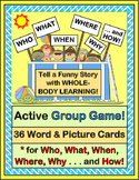 """Who, What, When, Where, Why, and How!"" - Group Game and 36 Word / Picture Cards"