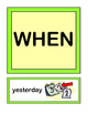 """""""Who, What, When, Where, Why, and How!"""" - Group Game and 36 Word / Picture Cards"""