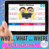Who? What? Where? Grammar BOOM™ Task Cards