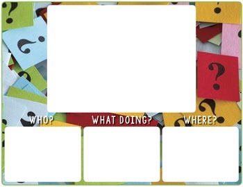 Who, What, Where Scenes:  Wh-Questions + Forming Sentences