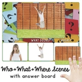 Who, What, Where Scenes: Wh-Questions w. BOOM CARDS