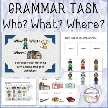 GRAMMAR TASK Who? What? Where?