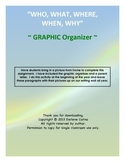 Who, What, Where, When, Why Graphic Organizer - Picture Writing