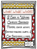 Who? What? Where? Writing Complete Sentences: Center, Post