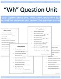 Who, What, Where and When questions