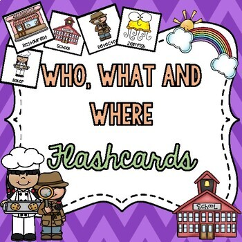 Who, What and Where Story Flashcards