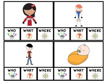 Who, What, or Where? Clip Cards