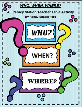 Who, When, Where? Improve vocabulary and word relationships with this activity
