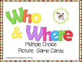 $$DollarDeals$$ Who & Where Multiple Choice Picture Cards