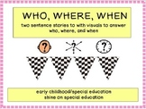 Who, Where, When - Adapted Book/File Folders