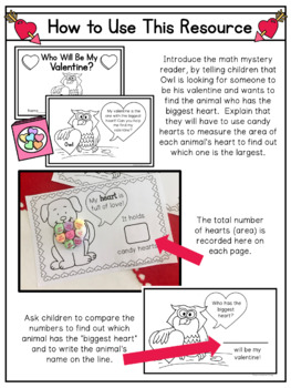 Who Will Be My Valentine? A Math Reader (Measuring Area)