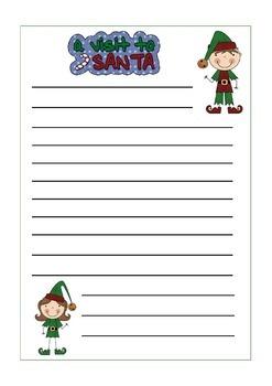 Who Will Be Santa's Helper? Writing Activity