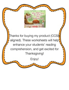 Who Will Carve the Turkey This Thanksgiving?-Bundle CCSS Aligned