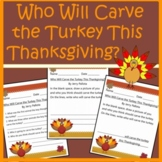 Who Will Carve the Turkey this Thanksgiving Activities