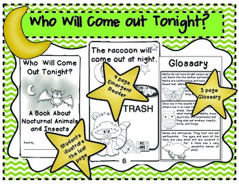 Who Will Come Out Tonight?  Emergent Reader about Nocturnal Animals