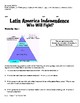 6th grade GA Social Studies: Who Will Fight for Independence in Latin America?